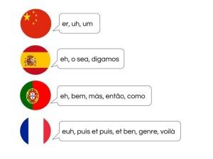 Filler words across languages